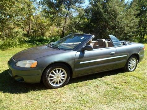 2002 Chrysler Sebring Engine by Purchase Used 2002 Chrysler Sebring Lxi Convertible 2 7