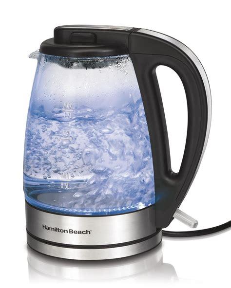 kettle glass hamilton beach cordless electric water tea amazon liter kettles illuminated soft kitchen rated items auto illumination indicator led
