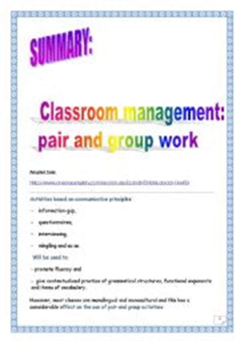 group work worksheets