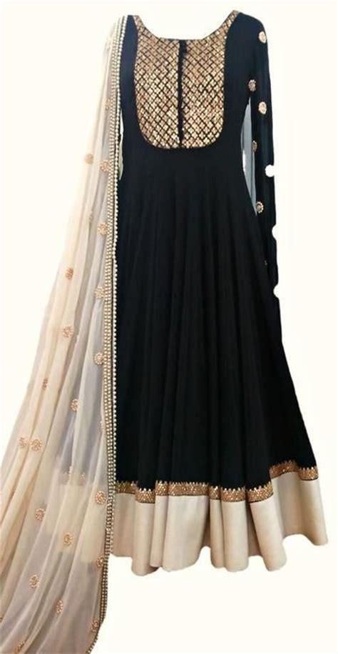 long black umbrella frock guest attire   south asian