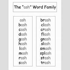 Kindergarten Phonics Worksheets  Free Printable Word Family Worksheets  School Pinterest