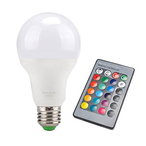 led color changing lights with remote sdida led rgb bulb e27 equivalent to 15w remote