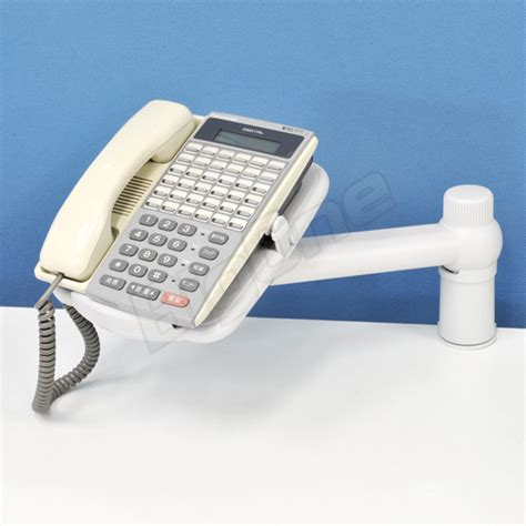 telephone desk stand bigone phone units arm low type rotation with white white