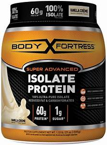 Body Fortress Super Advanced Whey Protein Powder  Vanilla  60g Protein  1 33 Lb