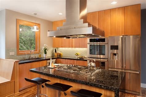 emerald pearl granite contemporary kitchen portland