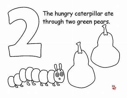 Coloring Caterpillar Hungry Very Pages Printables Printable