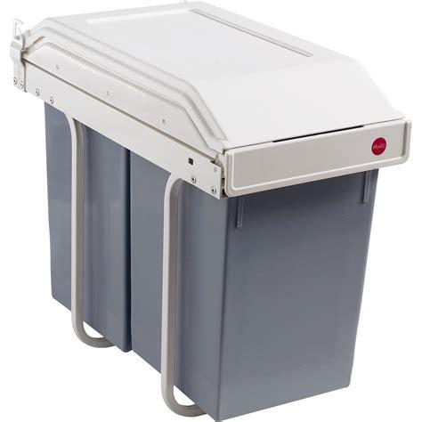 hailo poubelle encastrable cuisine poubelle de cuisine manuelle hailo plastique blanc crème