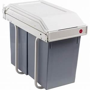 Poubelle De Tri Cuisine : poubelle de cuisine manuelle hailo plastique blanc cr me ~ Dailycaller-alerts.com Idées de Décoration
