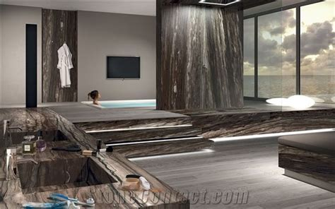 Sequoia Brown Quartzite Bath Design from Canada