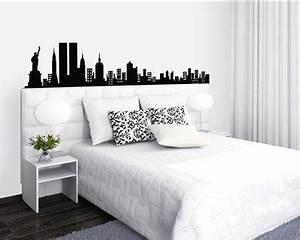 Décoration New York Chambre : d coration chambre ado new york t te de lit sticker mural noir blanc chambre marjo pinterest ~ Melissatoandfro.com Idées de Décoration