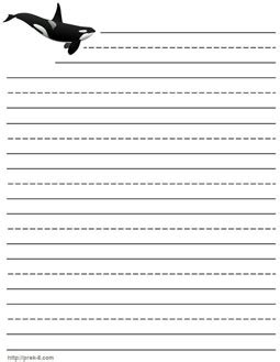 writing paper stationery  printable kids letterhead