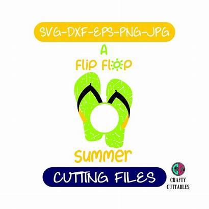 Svg Flip Flop Summer Silhouette Cricut Clipart
