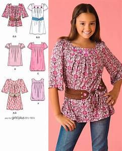 Girls Tunic & Dress Sewing Pattern Tunics Dresses Belt 5