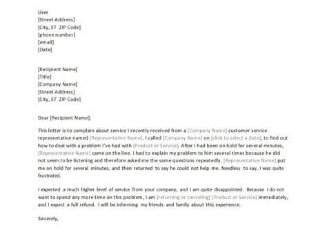 customer service letter sample sowtemplate