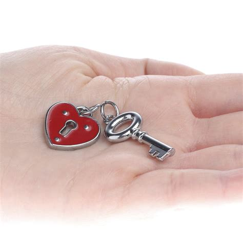 red heart lock  key charms valentines day holiday