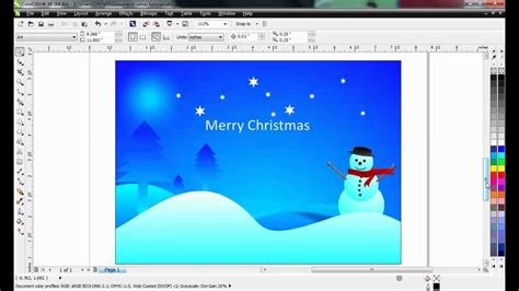 corel draw tutorial creative christmas card design