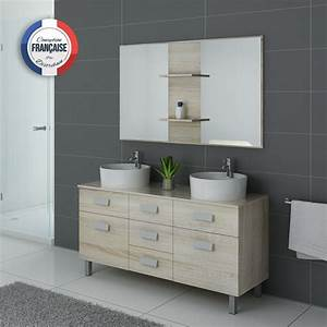 meuble de salle de bain 2 vasques sur pied dis911sc With prix meuble vasque salle de bain