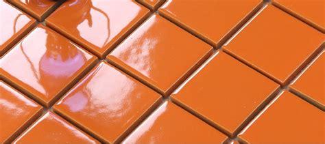 glazed porcelain orange mosaic tiles wall mm ceramic