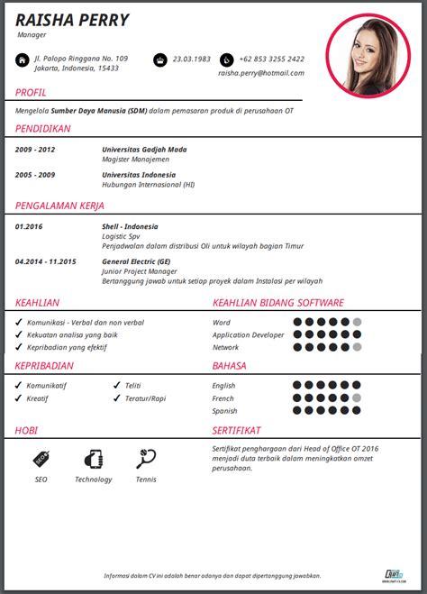 Great Cv by Great Contoh Curriculum Vitae Bahasa Jepang 56 Bagi