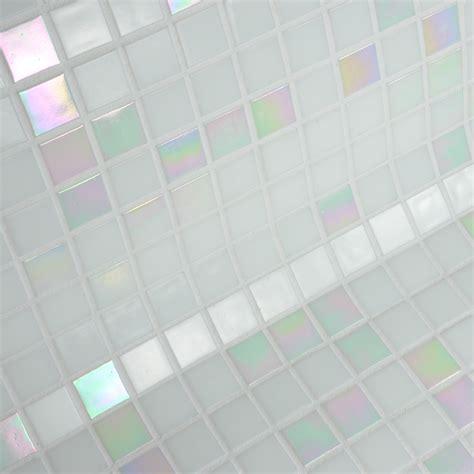 tablier de cuisine blanc pas cher ptes de verre blanc nacr de dolce mosaic 4990 ttc m