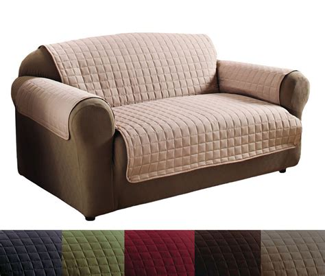 Quality Sofa by Quality Polyester Microfiber Quilted Loveseat Sofa