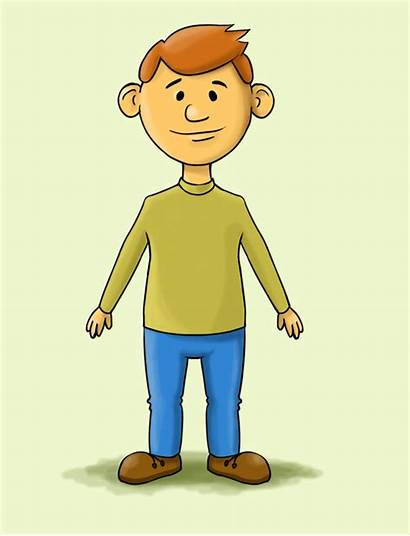 Cartoon Person Human Draw Healthy Drawing Clipart