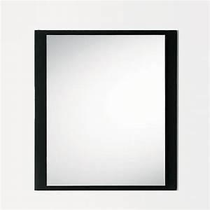 Miroir Cadre Noir : line q miroir avec cadre en verre color 80 x 90 cm sediarreda ~ Teatrodelosmanantiales.com Idées de Décoration