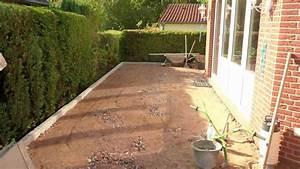 Garagenanbau Mit Terrasse : terrasse mit pflasterklinker youtube ~ Lizthompson.info Haus und Dekorationen