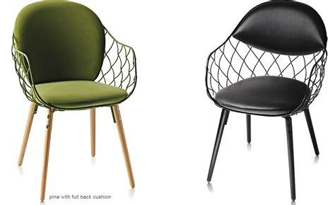 modern home bar design magis pina chair with split seat back cushion hivemodern com