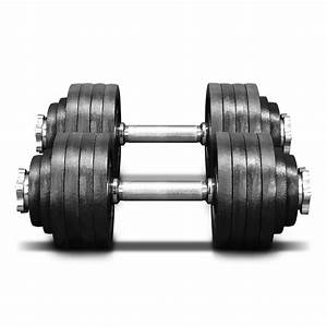 Yes4all 105 Lb Adjustable Dumbbell Weight Set - Cast Iron Dumbbell  A Pair  40lbs