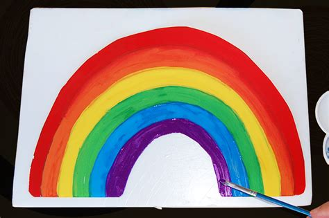 rainbow  printable templates coloring pages