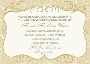 wording for golden wedding invitations uk mini bridal With golden wedding anniversary invitations templates uk