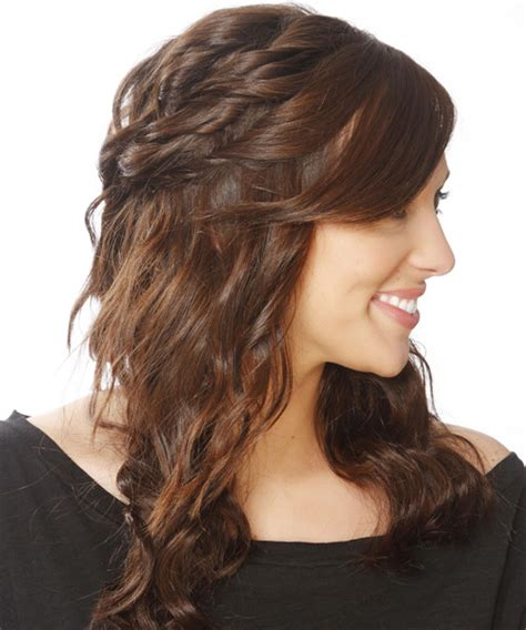 long curly casual   hairstyle  side