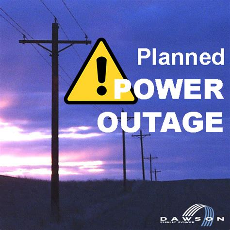 dawson public power district planned power outage
