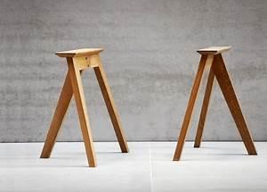 Tréteaux Pour Table : tr teau design pas cher en ch ne massif neo par jankurtz ~ Melissatoandfro.com Idées de Décoration