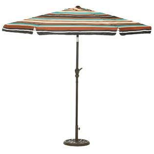 colorful patio umbrellas smith black multi color stripe 8 5 umbrella