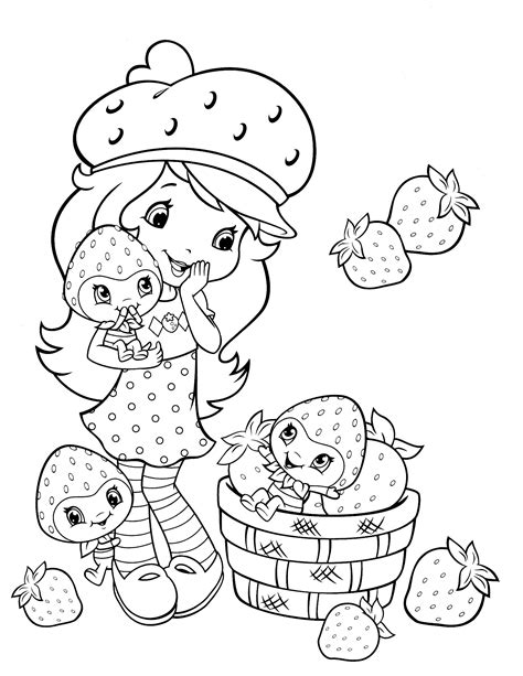 strawberry shortcake coloring page fresitas dibujos