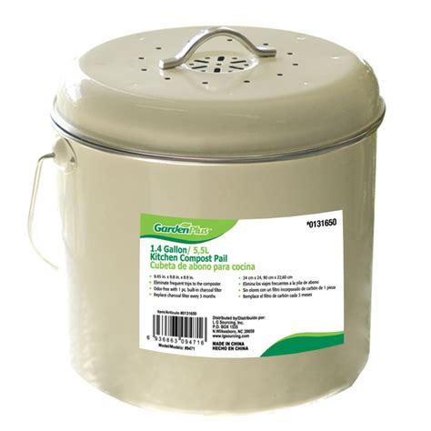 compost bin shop garden plus 1 4 gallon kitchen compost pail at lowes com