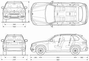 BMW X5 E70 SUV 2008 Blueprint - Download free blueprint