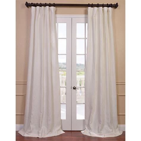 ivory linen lined curtain panel