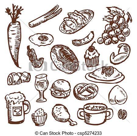 nourriture croquis