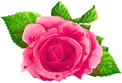 Roses Clip Pink Png Clipart Cliparts Co