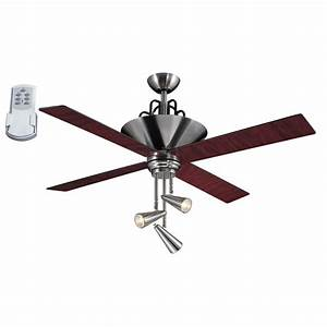 Harbor breeze ceiling fan with light and remote : Harbor breeze galileo in brushed chrome downrod