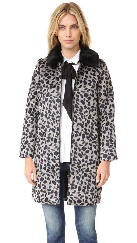 shop suncoo estelle coat in grey at modalist m0005000021796