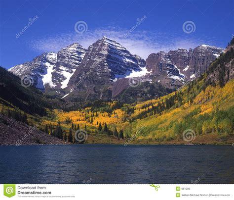 maroon bells maroon lake royalty  stock image