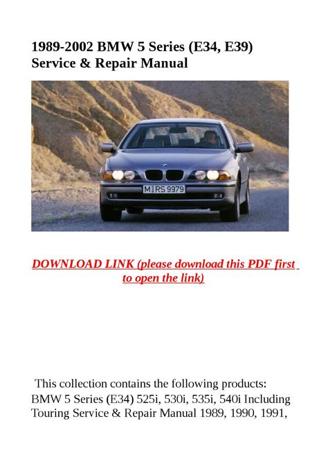 free car manuals to download 2002 bmw 5 series engine control 1989 2002 bmw 5 series e34 e39 service repair manual by dniel toen issuu