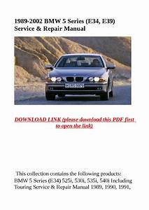 1989 2002 Bmw 5 Series  E34  E39  Service  U0026 Repair Manual By Dniel Toen