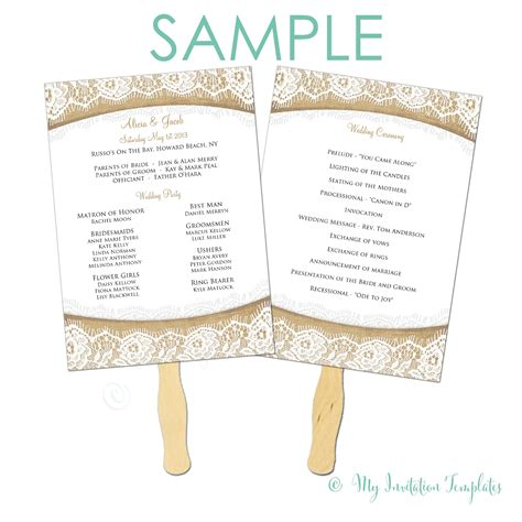 simple wedding program template popular sles templates