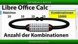 Anzahl Von Möglichkeiten Berechnen : kombinationen von einem zahlenschloss berechnen libreoffice calc toptorials ~ Themetempest.com Abrechnung