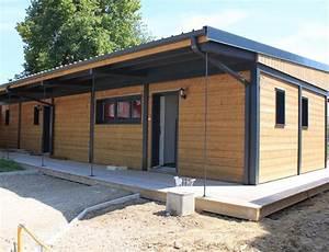 plan maison bois plain pied des maisons cologiques saines With maison bois toit plat 15 cube 180 hci constructions